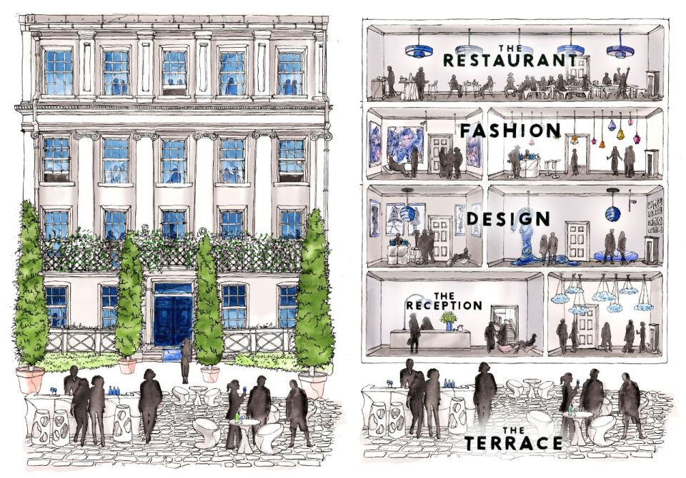 The House of Peroni May Illustration